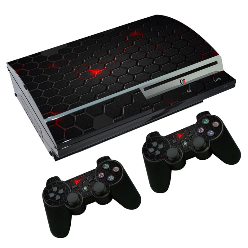 Vinyl Skin cover For PS3 Fat vinyl sticker console and controller decal  BLACK