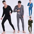 Winter Mens Warm Thermal Underwear Mens Long Johns Sexy Black Thermal Underwear Sets Thick Plus Velet Long Johns For Man