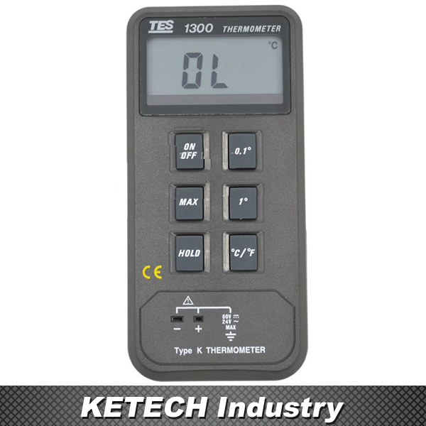TES1300 Dgital Thermometer K Type Thermocouple single input k type thermocouple thermometer industrial thermometer temperature reader sensor 50 to 1300 tes 1300