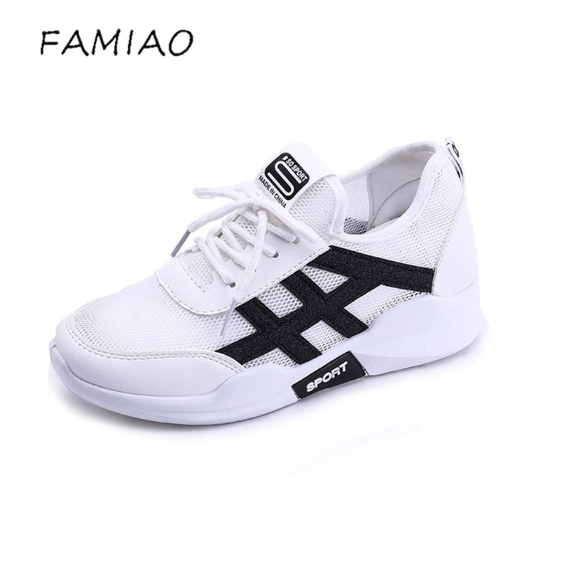 FAMIAO Woman casual shoes Breathable 2018 Sneakers Women New Arrivals Fashion mesh sneakers shoes women