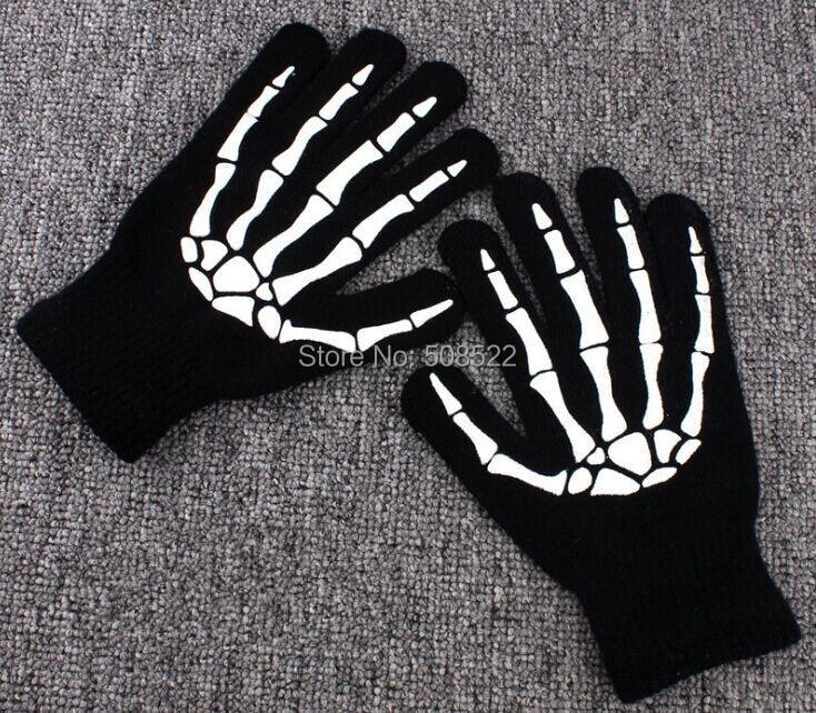 Halloweenowe rękawice pazurów duchów Szkieletowe rękawice - Materiały świąteczne