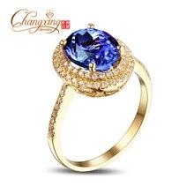 7x9mm Oval Violet Blue Tanzanite .33ct Diamonds 14k Gold Engagement Wedding Ring