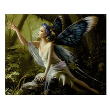 Hot sale 16X20inch Paint By Number Kit DIY Digital Oil Acrylic Painting on Canvas Home Decor, butterfly fairy