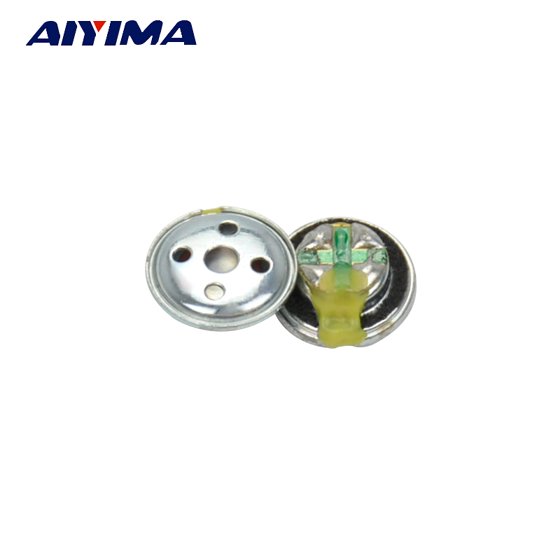 AIYIMA 20Pcs 10MM Earphone Speaker Unit 32ohm 3mW Subwoofer Headphone DIY Headset Speaker Accessories
