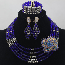 Luxury  Crystal Beads Weaving Solid Color African Beads Jewelry Sets Bridal Nigerian  Party Jewelry Set  Free Shipping hx228