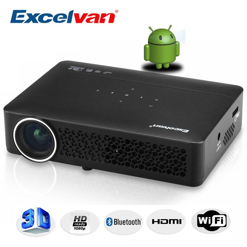 Projecteur DLP800W DLP Excelvan Android 4.4 OS 1280*800 résolution 400 Ansi Support 1080 p conférence d'affaires cinéma maison projecteur