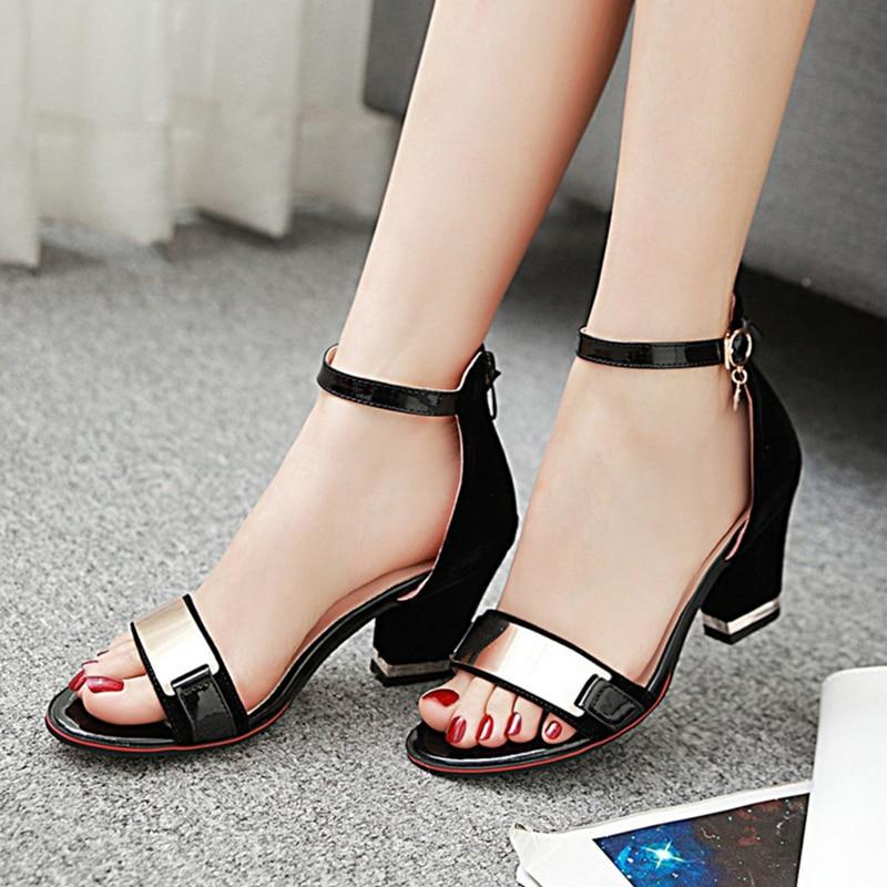 Gran Verano Calidad Mujer 32 Sandalias De Tacones Negras Para Tamaño Dilalula 2019 43 Marca R45AjL