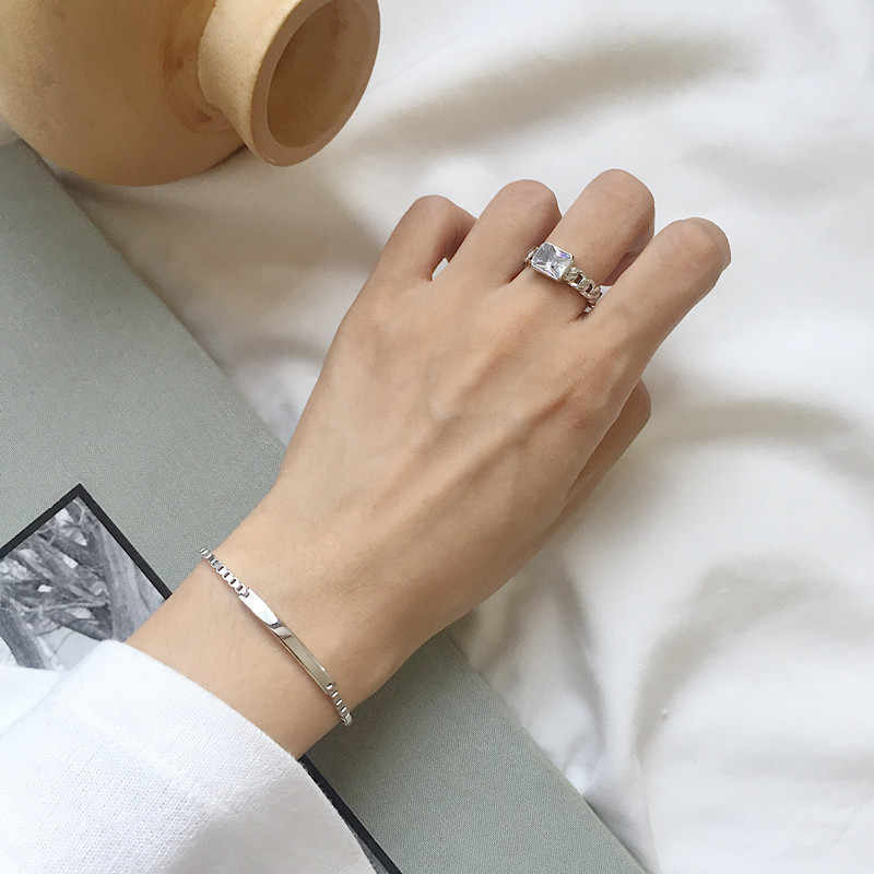 Luxury Brand Solid 925 Sterling Silver Infinity Charm Bracelet for Women Link Chain Bracelet Bangle Authentic Jewelry