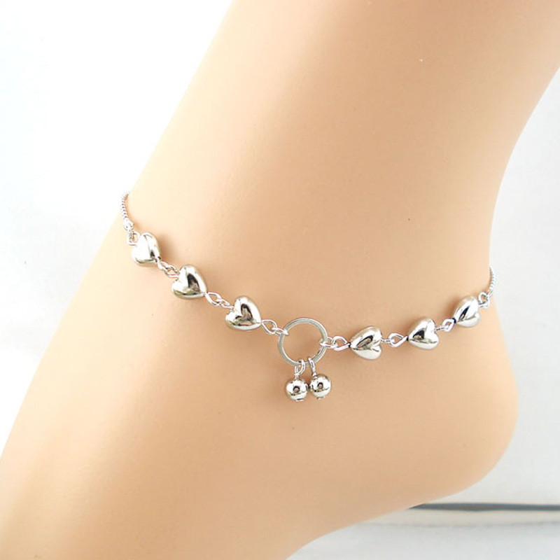 New Fashion Women Heart Cherries Anklet Ankle Bracelet Sexy Barefoot Sandal Beach Foot For Lady Perfect Gift  Free Shipping пандора браслет с шармами