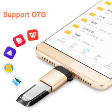 1/2PCS USB Type C Male To Micro USB Female Adapter USB Type-C Support OTG for Xiaomi 4C /LeTV /Huawei /HTC Oneplus LG Tablet(China)
