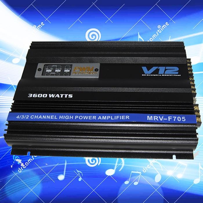 V12 4 canal de voiture amplificateur audio 3600 w amplificateur MRV-F705 amplificador amplificateur de voiture