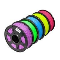 Tritina Yedekler Tipi için 3D Yazıcı Filament ABS 3.0mm 135 m Noctilucent 5 Renkler Optoins Paketlenmiş