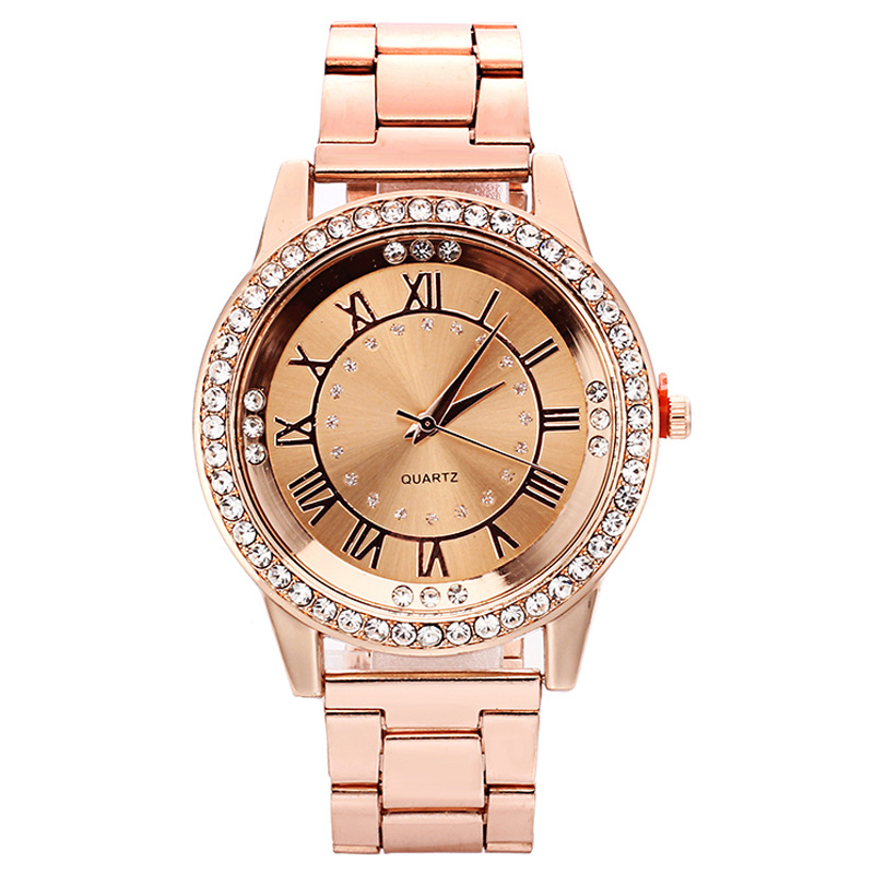 2019 Fashion Women Luxury Rose Gold Watches Stainless Steel Crystal Wrist Watch Ladies Dress Clock Montre Femme Reloj Mujer
