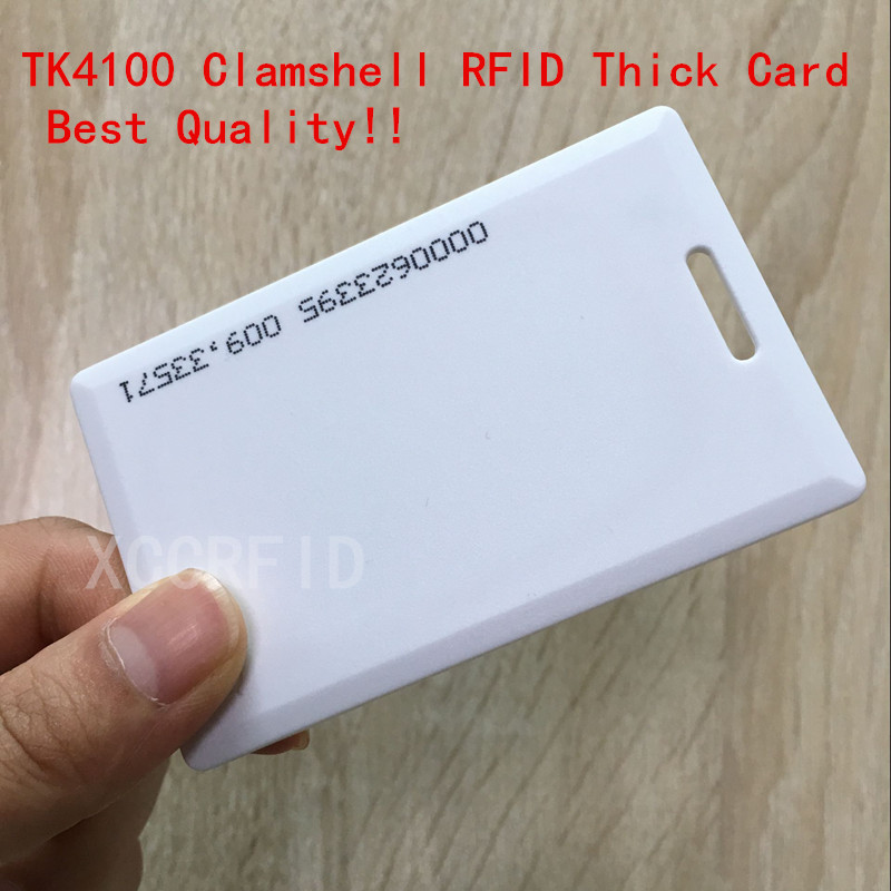 125khz RFID EM4100 TK4100 Clamshell Card 1.8mm Thickness Proximity ID Card With 64 bits For Door Access System Switch Power rfid clamshell card rfid proximity smart card for access control and hotel lock125khz 330 bits r w with t5577 chip