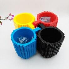 Neue 1 STÜCKE Kreative DIY Block Puzzle Build-Auf Ziegel Bausteine Kaffeetasse Tasse spielzeug für kinder kostenloser versand