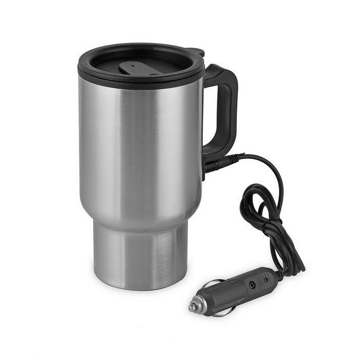 12v HEATED Car TRAVEL Drinking Mug Coffee Jug THERMAL drinks holder lorry van