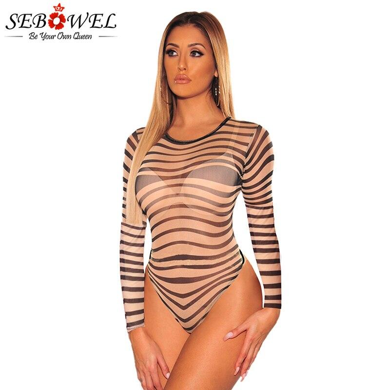 Nude-Black-Sheer-Mesh-Swirl-Illusion-Bodysuit-LC32390-21-1