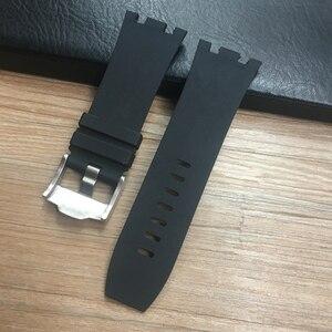 Image 4 - 30 ミリメートル防水ソフトゴムシリコーン時計バンド腕時計 Ap AP26400 44 ミリメートルケース腕時計オーデマとピゲベルト