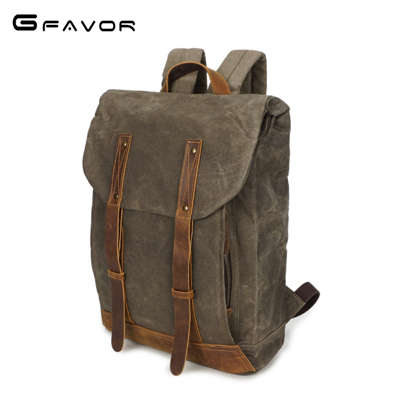 Vintage Canvas Backpack Men Large Capacity Travel Shoulder Bag Fashion Male Laptop Bag High Quality Waterproof Backpack For Men augur 2018 brand men backpack waterproof 15inch laptop back teenage college dayback larger capacity travel bag pack for male
