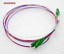 10pcs New 0.9mm SM Steel Tube 1x2 Mini Optic Fiber LC UPC/APC Pull Cone PLC Splitter Wire harness Connector
