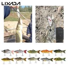 Lixada 10cm 20g Fishing Wobblers 6 Segments Swimbait Crankbait Fishing Lure Bait with Artificial Hooks
