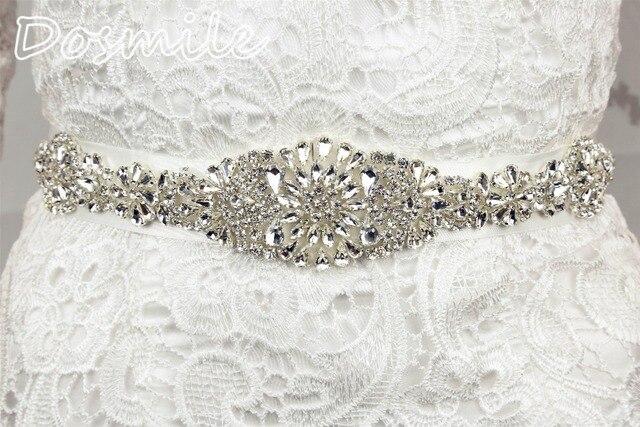 White Crystal Rhinestone Pearl sash belt Wedding Bridal Dress satin Belt Cummerbunds Sash Waistband Girdle Accessories
