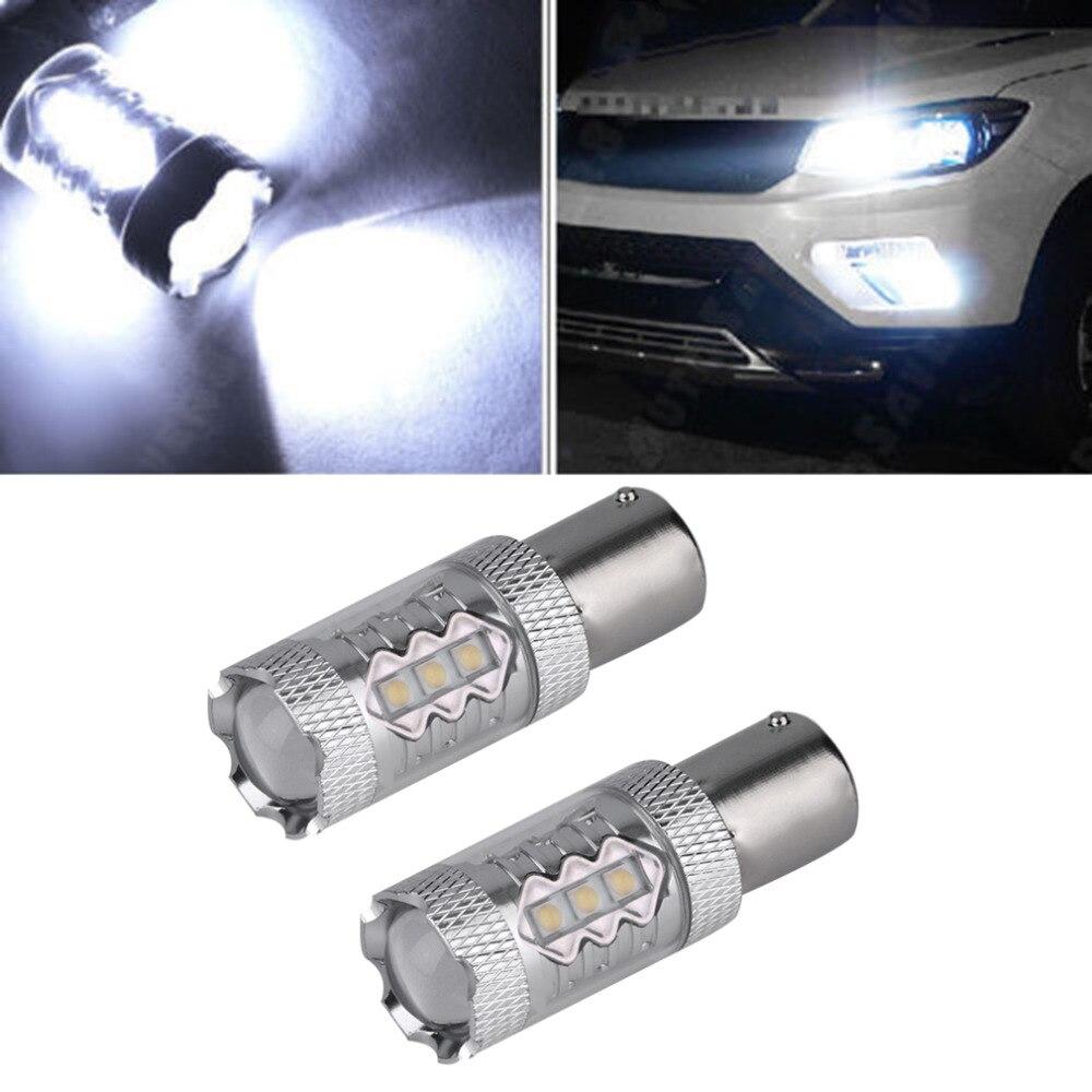 2pcs 80W HID White 1156 BA15S High Power RV Camper Trailer LED Light 1141 12V High