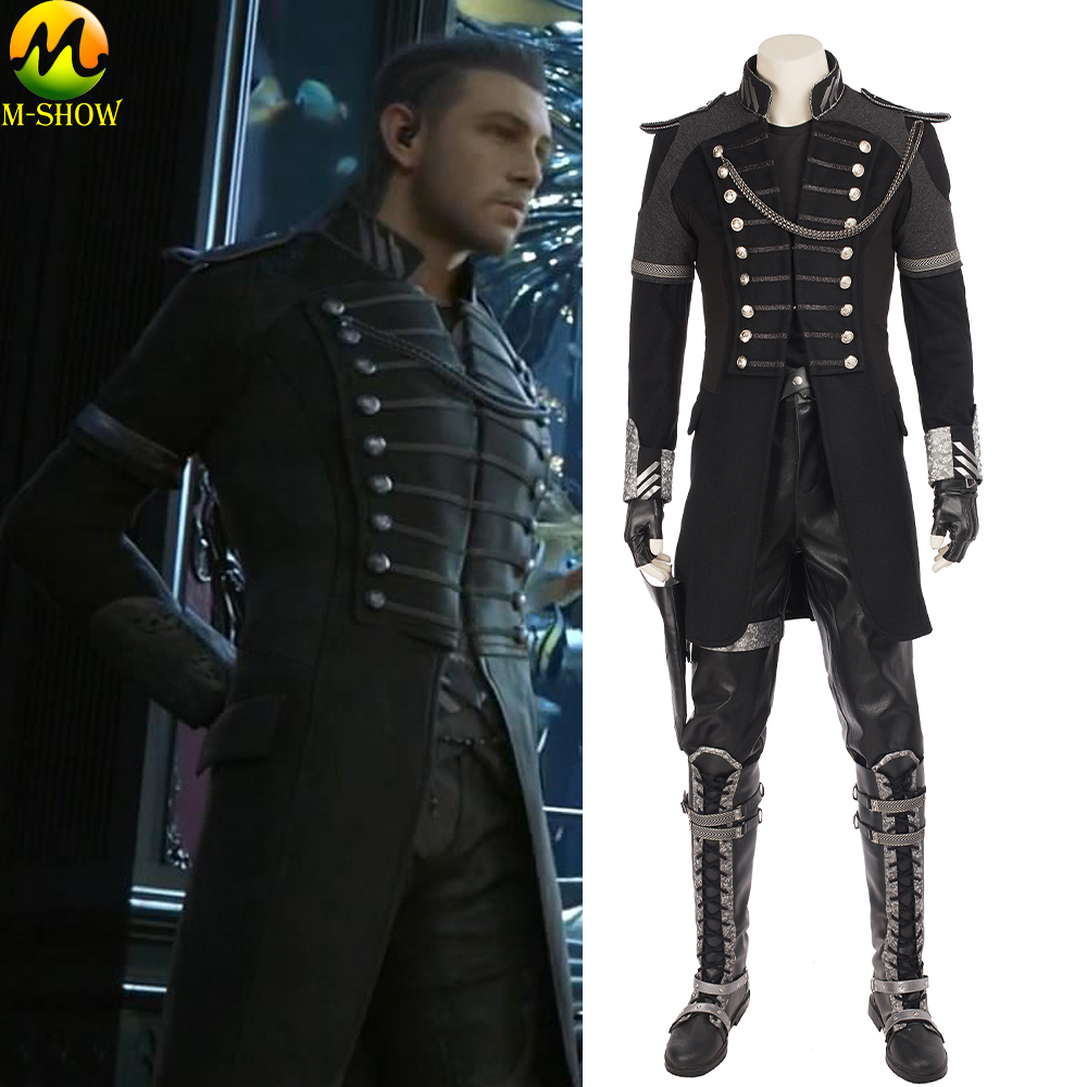 Movie Kingsglaive Final Fantasy XV Nyx Ulric Cosplay Costume Halloween Costumes For Adult Men Leather Full Set Custom Made