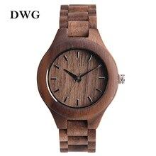Marca Analógico Reloj De Madera De Lujo para Las Mujeres Más Nuevo Del Cuarzo Del Reloj Nuez De arce De Madera Reloj de pulsera para Niñas Reloj Orologi Donna Mujer