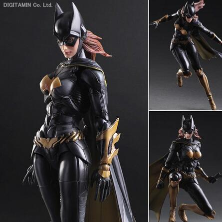 Batgirl Action Figures Play Arts Kai PVC Toys Batman Arkham Knight 250mm Anime Movie Playarts Kai Model Justice League 321 tobyfancy play arts kai action figures batman dawn of justice pvc toys 270mm anime movie model pa kai heavily armored bat man