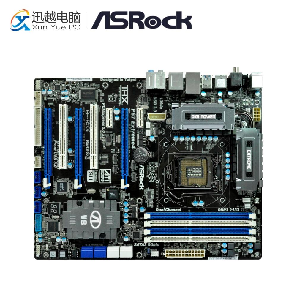 Asrock P67 Extreme4 Desktop Motherboard P67 Socket LGA 1155 i3 i5 i7 DDR3 32G USB3.0 ATX asus p8p67 desktop motherboard p67 socket lga 1155 i3 i5 i7 ddr3 32g sata3 usb3 0 atx