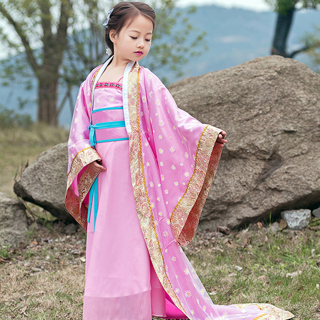 624f62cf161e Children Trailing Traditional Princess Dress Chinese Ancient Dance ...