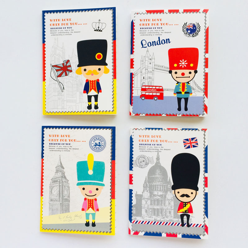 2PC 20 Sheets London Soldier Small Lined Notebook School Office Supply Student Stationery Notepad Promotion Gift