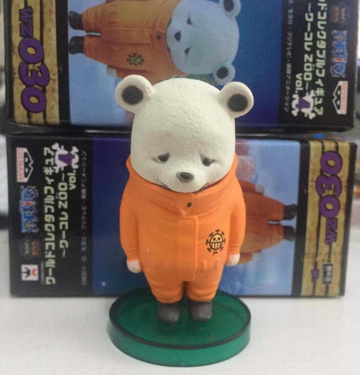 WCF Action Figures One Piece Zoo 4 Bear Bepo PVC Toys Onepiece Figure Collectible Toy One Piece Figure