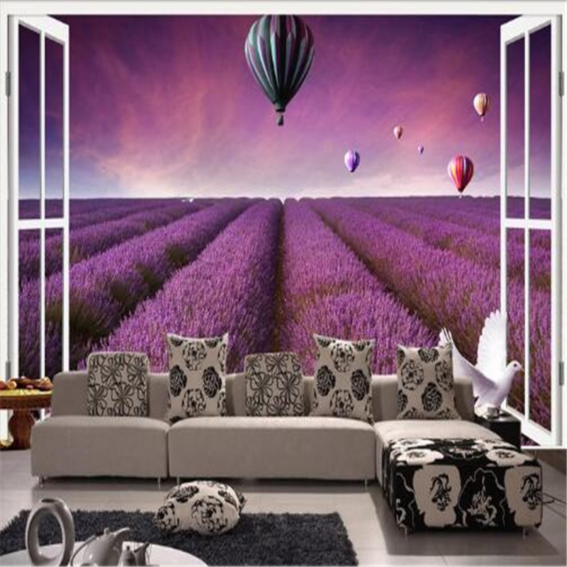 Wall Murals 3D Purple Flowers Wallpapers Living Walls Wallpapers Bedroom Custom Photo Wall Papers Home Decor Landscape Murals modern embossed 3d wallpapers rolls luxury striped wallpapers non woven desktop wall papers home decor bedroom walls coverings