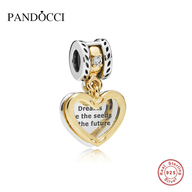 b1f3feac4aac5 US $17.91 25% OFF|PANDOCCI 925 Sterling Silver Jewelry Seeds of the Future  Dangle Charm, Clear CZ Original Beads Fits Bracelets For Jewelry Making-in  ...
