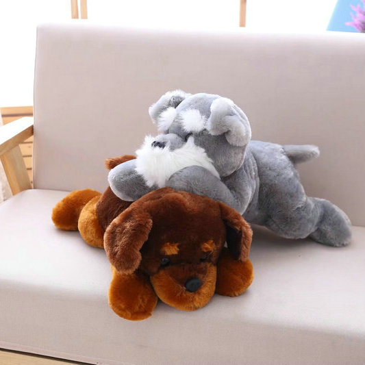 цена на 45/55cm Cute Simulation Dog Plush Toy Husky /Shepherd dog/ Belldog / Schnauzer Soft Stuffed Animal doll Kids Gift