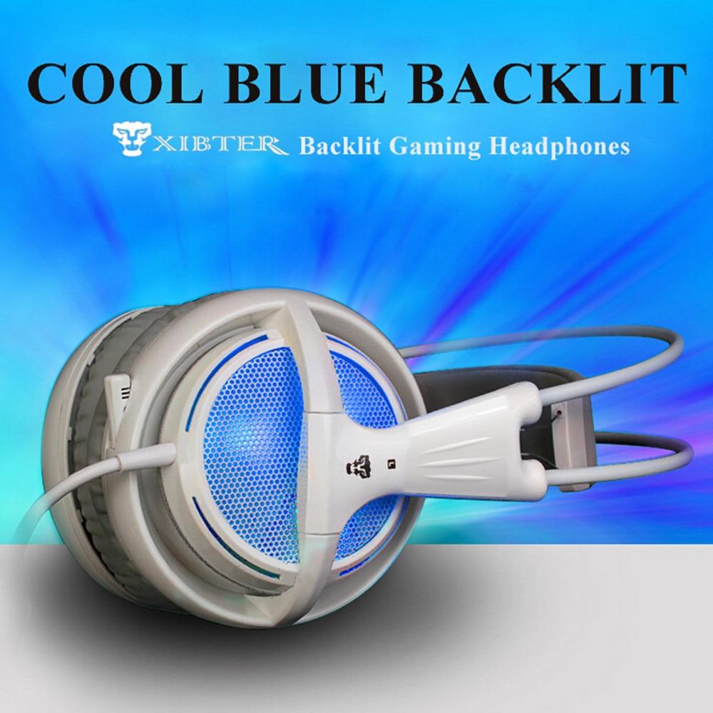 Xibter stereo igralne slušalke z mikrofonom modro LED svetlobo - Prenosni avdio in video - Fotografija 6