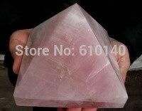 free shipping NATURE rose quartz CRYSTAL PYRAMID POINT HEALING