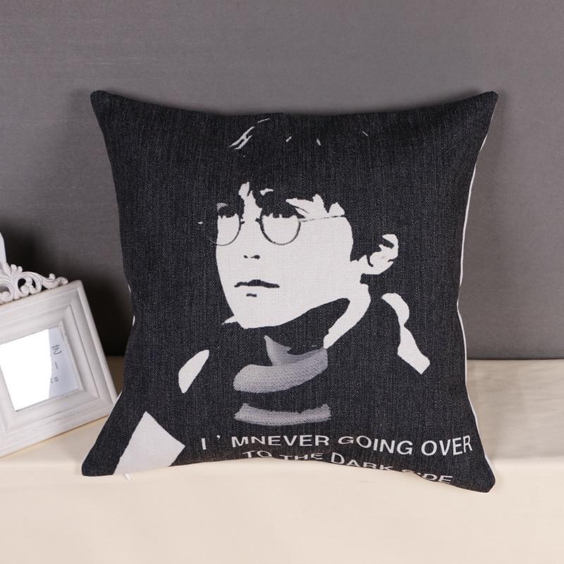 Hot Sale Pillow Covers Harry Porter Pattern Fashion Style 45X45CM Linen Pillow CoverHome Decorative cushion case