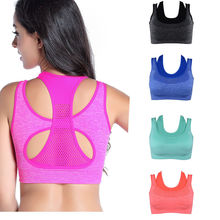 Women Seamless Sports Bra Yoga Fitness Padded Stretch Workout Crop Top Comfort