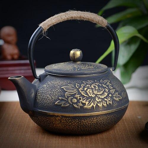ร้อนขายโยนหม้อเหล็กเคลือบผิวกาน้ำชาเหล็กภาคใต้ของญี่ปุ่น,ญี่ปุ่นดอกโบตั๋นใหญ่เหล็กกาต้มน้ำหม้อ800มิลลิลิตร-ใน กาน้ำชา จาก บ้านและสวน บน AliExpress - 11.11_สิบเอ็ด สิบเอ็ดวันคนโสด 1