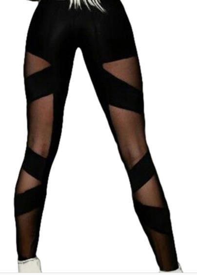 Style Grille Leggings Sexy Noir Corps Nouveau Taille Et Bottompants Croix Haute TdIxq