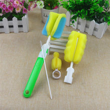 Baby Bottle Brushes For Cleaning Newborn Baby Kids Milk Feed Bottle Nipple Pacifier Nozzle Spout Tube Cleaning Brush Sets(China)