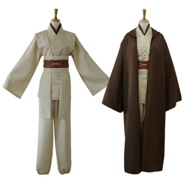 2018 Movie Star Wars Cosplay Jedi Knight Costumes Suit Halloween Christmas Bar Party Costume Top Trench Belt Cummerbunds Girdle