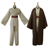 2018 Movie Star Wars Cosplay Jedi Knight Costumes Suit Halloween Christmas Bar Party Costume Top Trench