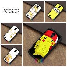 SCOZOS Pikachu Cute Pokemon fashion phone case for samsung galaxy S3 S4 S5 S6 S6 edge S7 S7 edge S8 Note 3 Note 4 Note 5 #LI6490