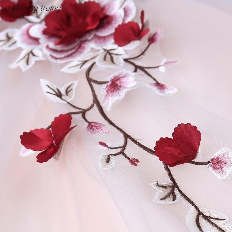 Rouge 3D fleur Quinceanera robes Vestidos De 15 Anos robes pour Quinceaneras fête Robe De Bal fille douce 16 robes Robe De Bal - 5