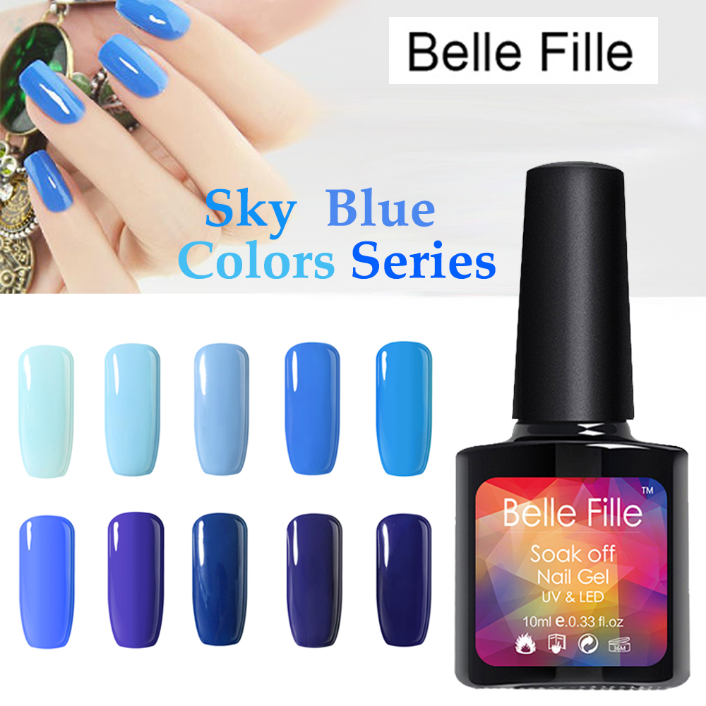 10ml Blue Sky Colors Series UV Gel Nail Polish Nails Gel ...