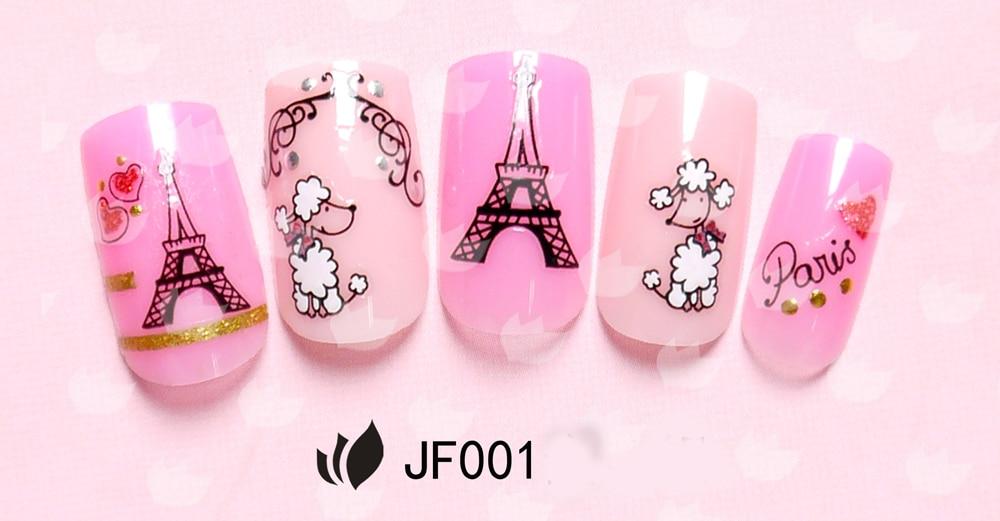 24pcs Eiffel Tower Geisha Egypt Nail Art Stickers 3D Adhesive ...